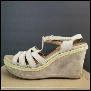 CLARK Zia Reign Leather WEDGE SZ 10